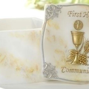 6 First Communion Gifts - Rosary Storage Box