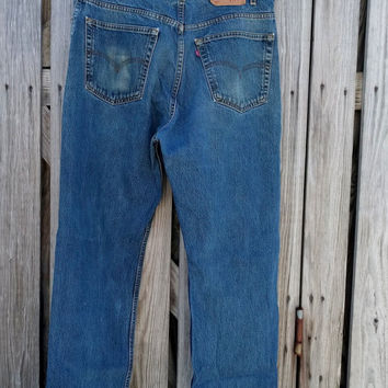 "VINTAGE 70s ""LEVI'S"" 505 Denim Jeans Pants - Size 40 x 32 (Actual 39 x 32)"