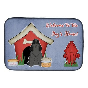 Dog House Collection Cocker Spaniel Black Dish Drying Mat BB2846DDM