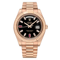 Rolex Everose Gold ​Day-Date II President Wristwatch Ref 218235