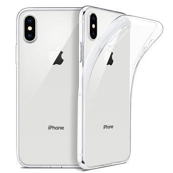 """For iPhone X Case, WEFOR Slim Clear Soft TPU Cover Support Wireless Charging for Apple 5.8"""" iPhone X /iPhone 10 (2017 Release)"""