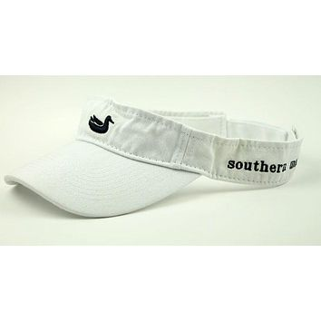 Visor in White with Navy Duck by Southern Marsh