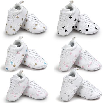 Baby Five-pointed Star Bandage Soft Sole Shoes Toddler Sneakers Casual Shoes