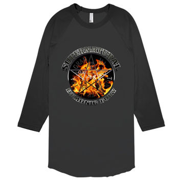 Supernatural Demonic Fury Silver Baseball T-shirt