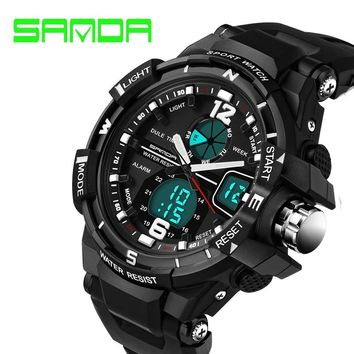 SANDA Fashion Watch Men G Style Waterproof LED Sports Military Watches Shock Men's Analog Quartz Digital Watch relogio masculino