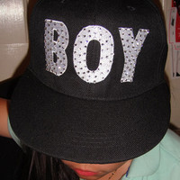 Punk boy Rock Baseball Cap Hip-Hop Swarovski Hats SNAPBACK Adjustable Hat