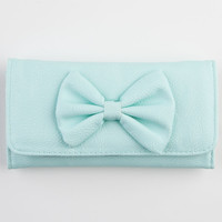 Faux Leather Bow Wallet | Wallets