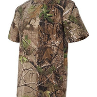 Outdoor Combo Camouflage Real Tree T-Shirt + Real Tree Hardwood Hat, 2XL