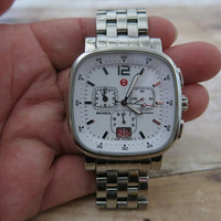Michele Stainless Steel Sport Sail Large Square Watch