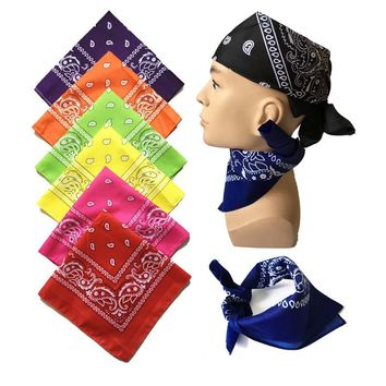 Design Novelty Magic Headband Scarf Hip Hop Headwear/Hair Band For Men Boys Cashew Multifunctional Square Cotton Scarves