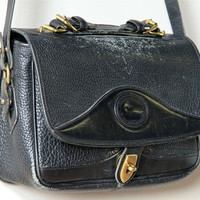 Dooney & Bourke Purse 80s distressed black all by factoryhandbook
