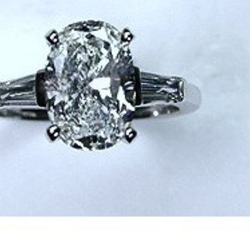 5.31ct F-SI1 Oval Diamond Engagement Ring 18kt JEWELFORME BLUE  EGL certified