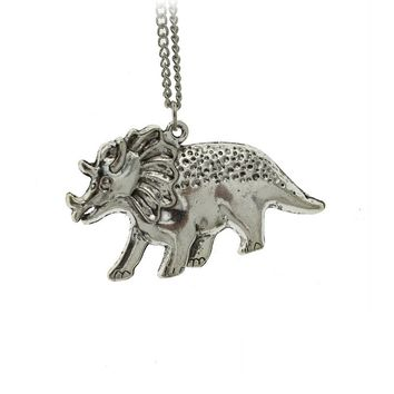 Silver Cool Rhino Pendant Necklace