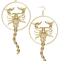 SCORPION HOOPS EARRINGS - Default Title