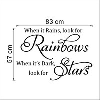 "Modern Characters ""Rainbows Stars"" wall stickers home decor wall decals decoration  NEW PVC 57*83CM SM6"
