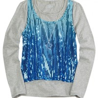 Sequin Tank 2fer with Necklace