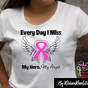 Breast Cancer Miss My Hero Shirt