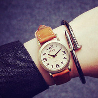 Womens Simple Classic Leather Watch Gift 524