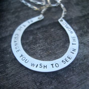 Be The Change Necklace by donnaOdesigns on Etsy