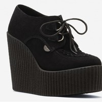 Underground Shop | Wedge Wulfrun Creepers Black Suede | Shoes,Creepers,Underground,England,TUK