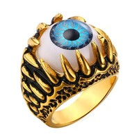 Blue Eye Amulet Ring