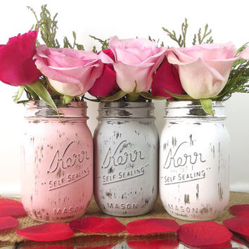 Rustic Wedding Decor Mason Jars, Wedding Decoration Ideas, Wedding Center Pieces for Tables, Wedding Centerpiece, Bridal Shower Decor