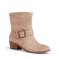 Laser Cut Suede Boot