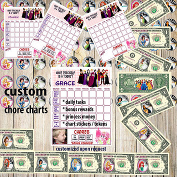 Kids Chore Chart, Princess Planner Chart,Kids Reward Chart,Responsibility Chart,Positive Behavior Chart,Star Chart,Kids Planner,Weekly Chart