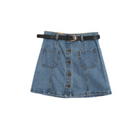 denim skirt ;