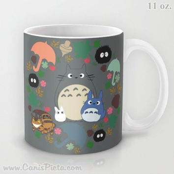 Totoro Kawaii My Neighbor 11 / 15 oz Mug Dishwasher Microwave Safe Cup Tea Coffee Drink Anime Soot Manga Catbus Hayao Miyazaki Studio Ghibli
