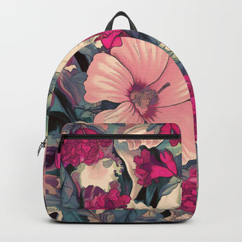 flowers 28 #flora #flowers #pattern Backpack by jbjart