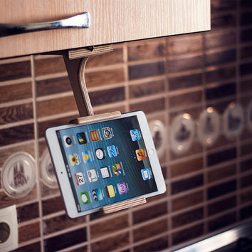 Kitchen tablet holder, ipad stand, kitchen tablet stand, Wood cookbook stand, kindle hd stand, kitchen accessories, kitchen, Gift Ideas