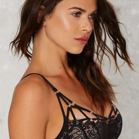 Nasty Gal Semi Sweet Lace Cage Bra