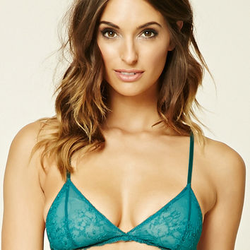 Embroidered Lace Bralette