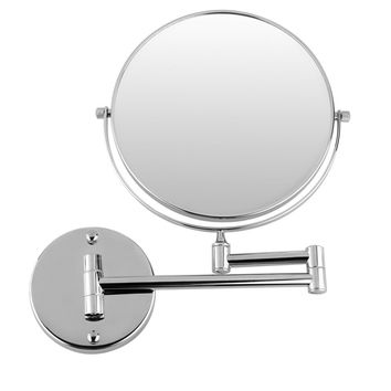 JEYL Hot Chrome Round Extending 8 inches cosmetic wall mounted make up mirror shaving bathroom mirror 3x Magnification