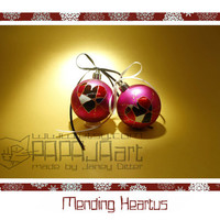 Mending Heartus - Original Hand Painted Christmas Baubles, SET OF 9