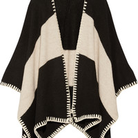 Alice + Olivia - Kamala two-tone knitted cape