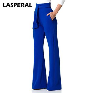 LASPERAL Fashion Casual Pant Women Wide Leg Flare Pants 2018 Spring
