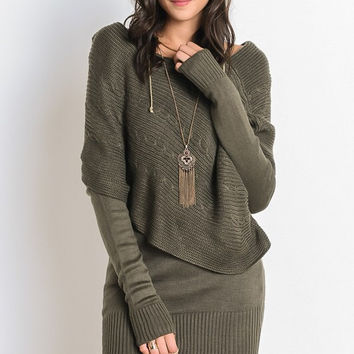 Layers of Warmth Sweater - Olive
