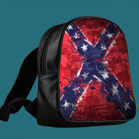 Confederate Rebel Flag Painting for Backpack / Custom Bag / School Bag / Children Bag / Custom School Bag *