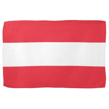 Kitchen towel with Flag of Austria