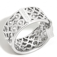 Coach :: Pierced Op Art Band Ring
