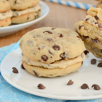 Chocolate Chip Cookie Sandwiches - Cookie Dough - Ganache - Buttercream - Chocolate Cream