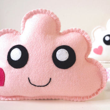 Pale Pink Kawaii Cloud, Pink Cloud, Pink Cloud Softie, Nursery Gift, Nursery Decor, New Baby, Shower Gift, Baby Shower Gift, Gift baby girl