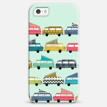 geo campers mint iPhone 5s case by Sharon Turner | Casetify