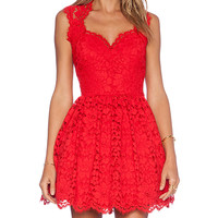 Alexis x REVOLVE Antilles Scalloped Detail Dress in Red