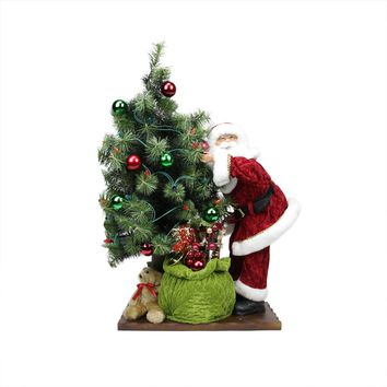 "24"" Pre-Decorated Red Poinsettia  Pine Cone and Ball Artificial Christmas Wreath Unlit"