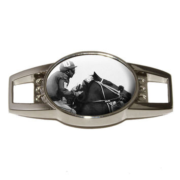 Horse Racing Race Track Betting Running Vintage Shoe Charm - No. 2
