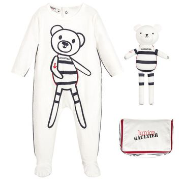 Junior Gaultier Baby Nautical Two-piece Gift Set