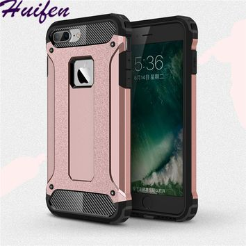 For iPhone 8 Plus Case Hard Rugged Armor Case Hybrid Armor Phone Case Double Protector Slim Hybrid Cover For iphone 8 plus Funda